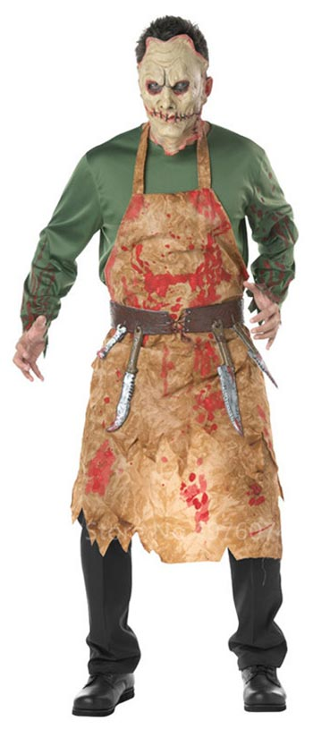 Disfraz de carnicero zombie para hombre