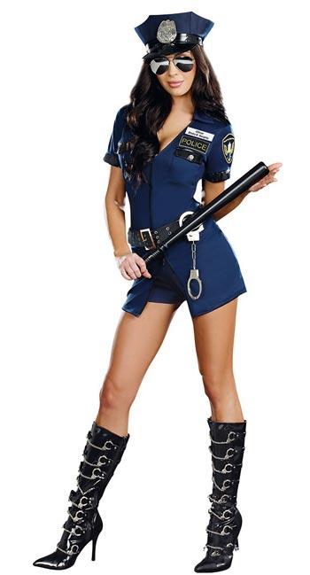 Disfraz de despedida de soltera de policía sexy