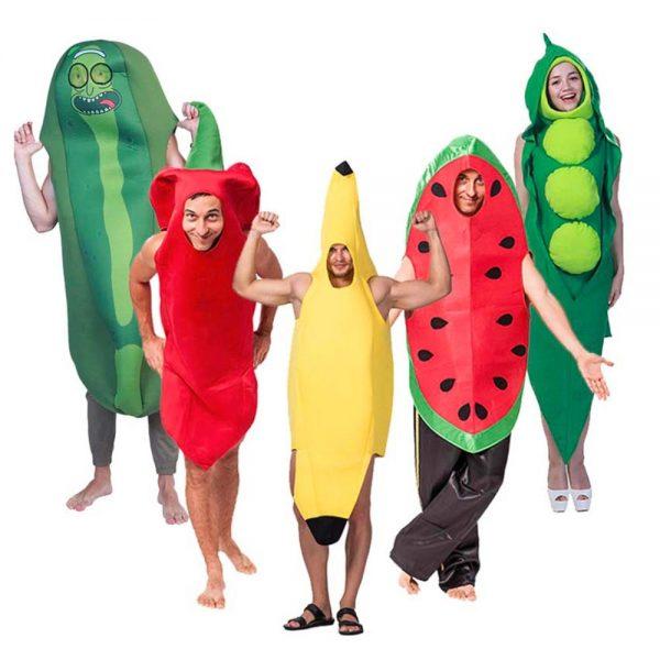 Disfraz de grupo de frutas y verduras