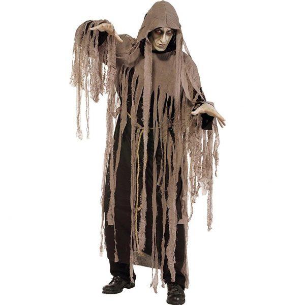 Disfraz de zombie con capucha